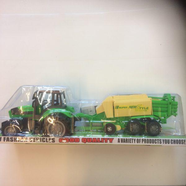 Traktor na napęd z maszyną rolniczą