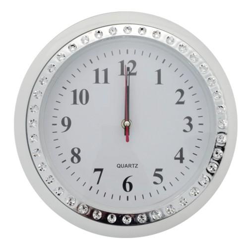 Zegar na ścianę z cyrkonią