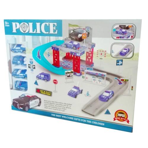 Parking policja 15 elementów + znaki