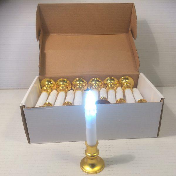 Świeca na baterie ze złotym zdobieniem