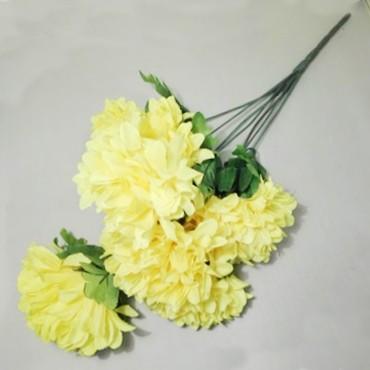 Chryzantema bukiet duża 7 kwiatów 60cm
