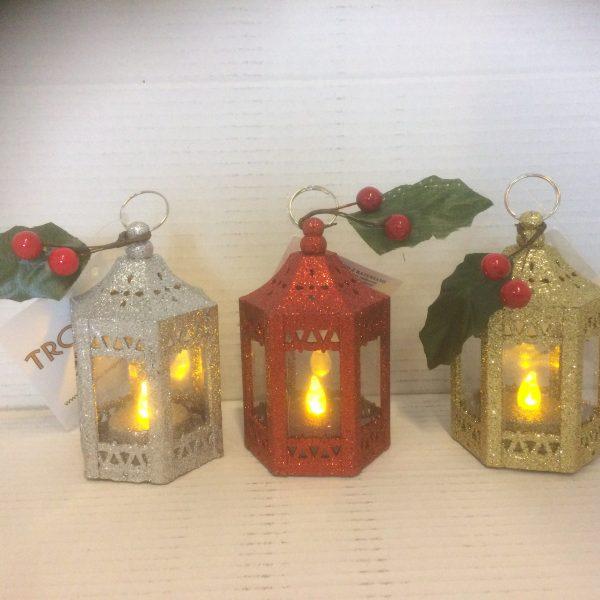 Lampion świąteczny w trzech kolorach