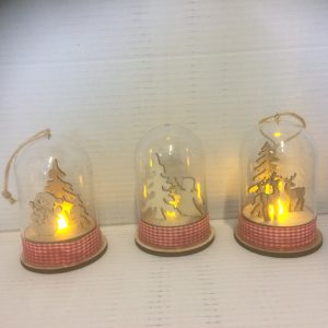 Lampion świąteczny aniołek bałwanek