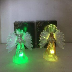 Anioł świąteczny ze szkła świecący