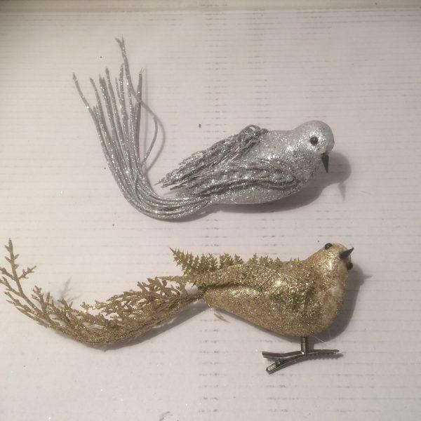 Ptaszki dekoracyjne na klipsie