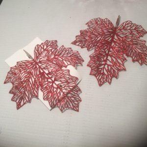 Ozdoba świąteczna liść czerwony