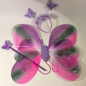 Skrzydła motyla na gumce